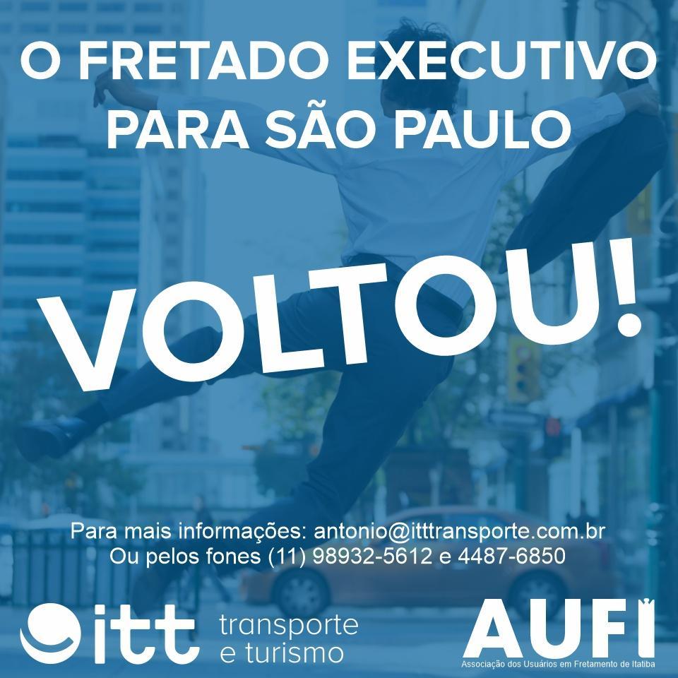 Fretado para São Paulo VOLTOU!